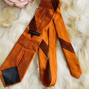 VALENTINO Men's silk tie burnt orange